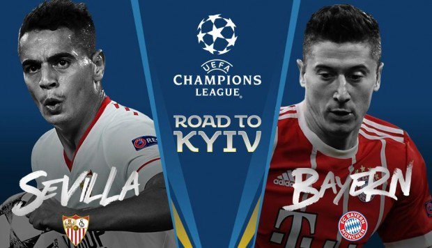 Sevilla vs Bayern Múnich en Vivo online Champions League 2018