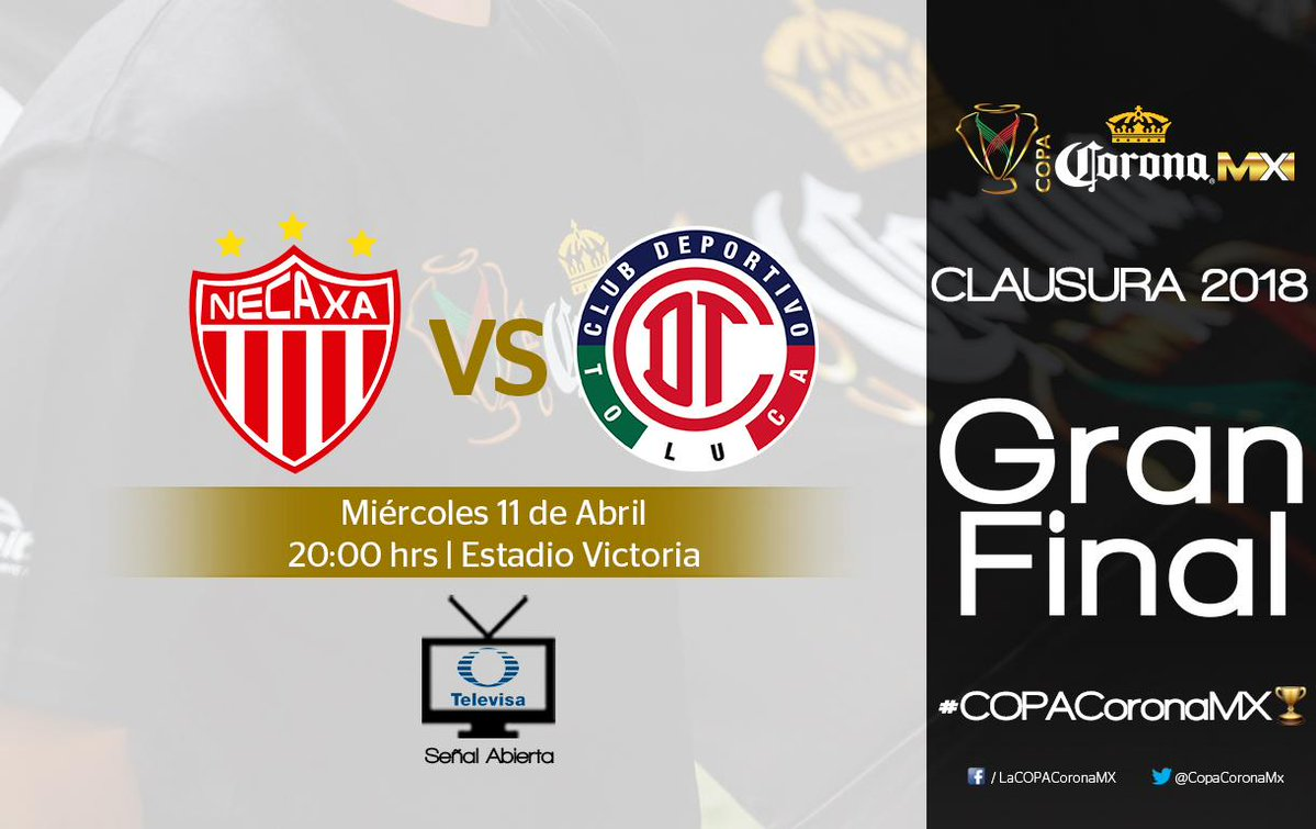 ver la final Necaxa vs Toluca en Vivo Copa MX 2018
