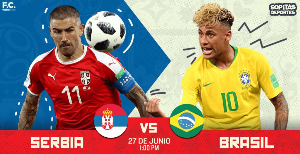 En vivo por SKY HD Serbia vs Brasil Rusia 2018
