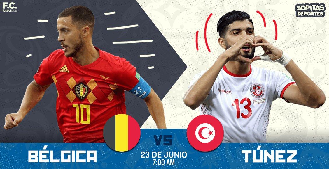 El partido Bélgica vs Túnez en Vivo en el mundial Rusia 2018