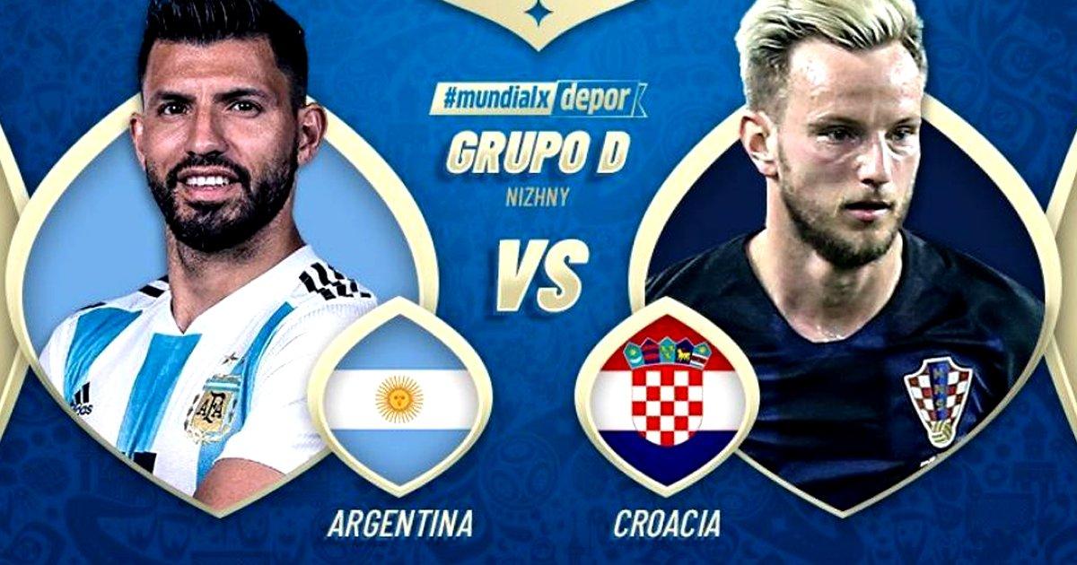 El partido en Vivo Argentina vs Croacia por Internet Rusia 2018