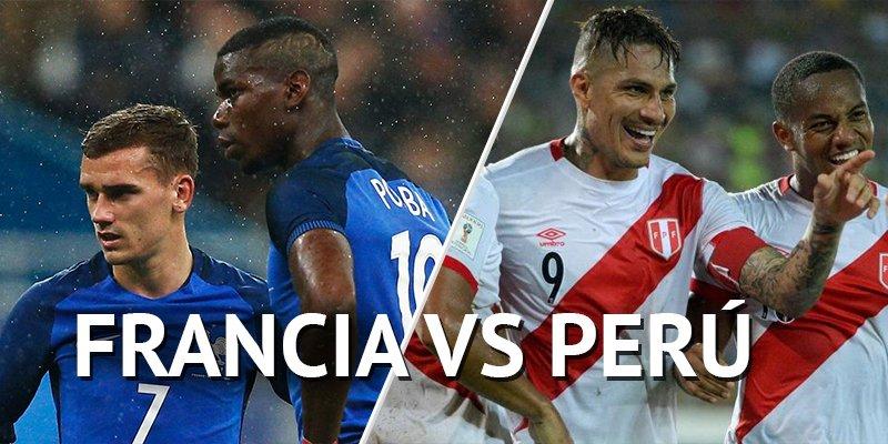 El partido en Vivo Francia vs Perú por Internet Rusia 2018