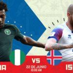 En el mundial Nigeria vs Islandia en Vivo Rusia 2018