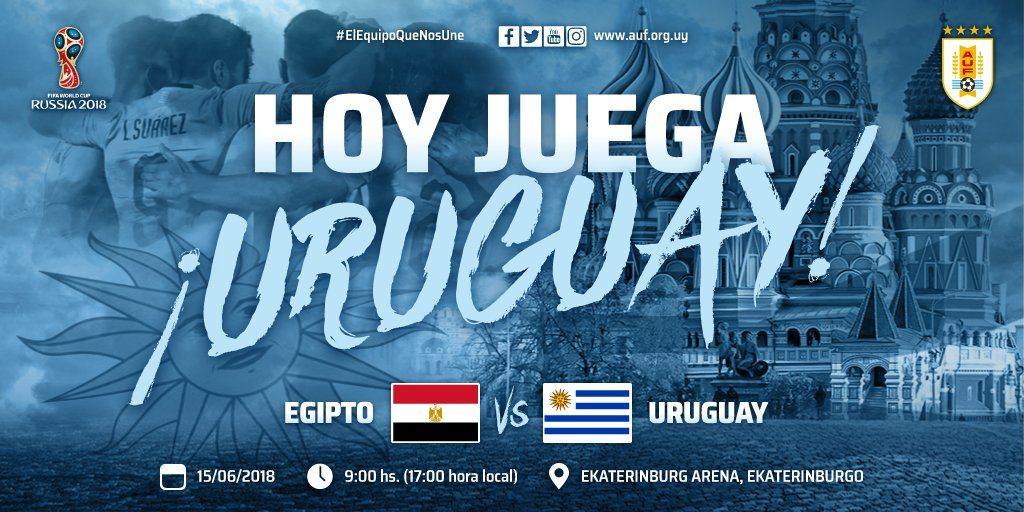 En que canal juega Egipto vs Uruguay en Vivo Mundial Rusia 2018 2018