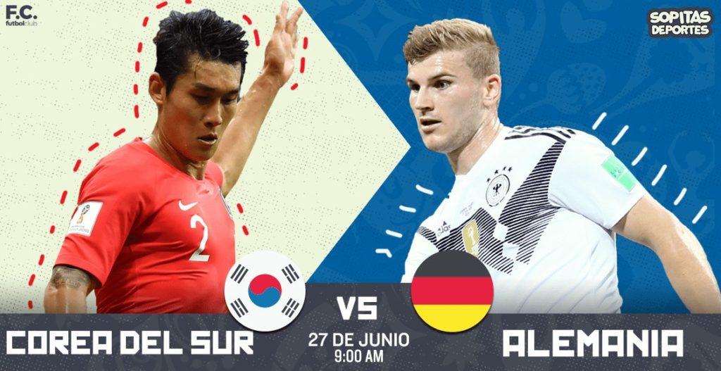 En vivo por SKY HD Corea del Sur vs Alemania Rusia 2018