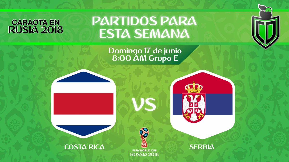 Partido Costa Rica vs Servia en Vivo mundial Rusia 2018 2018