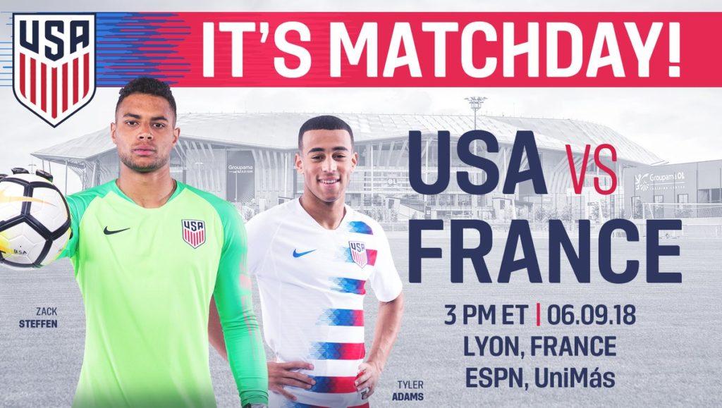 Partido de la selección de Francia vs Estados Unidos en Vivo Amistoso 2018
