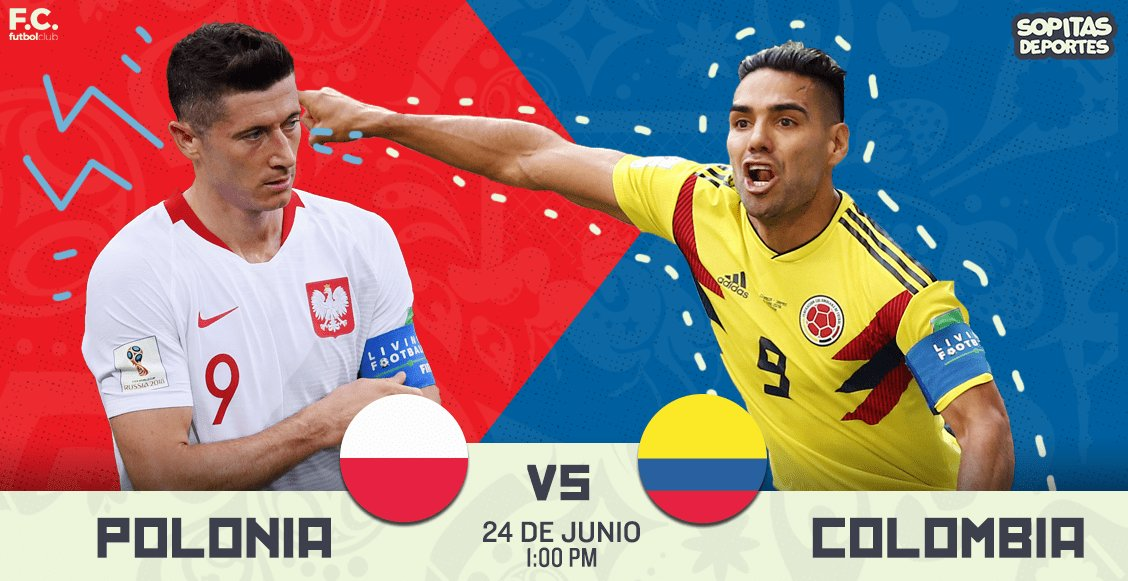 Partido en el mundial Polonia vs Colombia en Vivo Rusia 2018