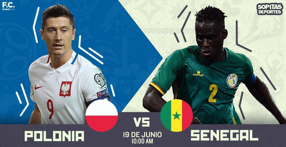 Partido Polonia vs Senegal en Vivo Rusia 2018 2018