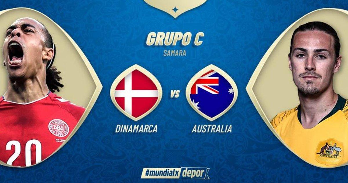 Ver el partido Dinamarca vs Australia en Vivo Rusia 2018
