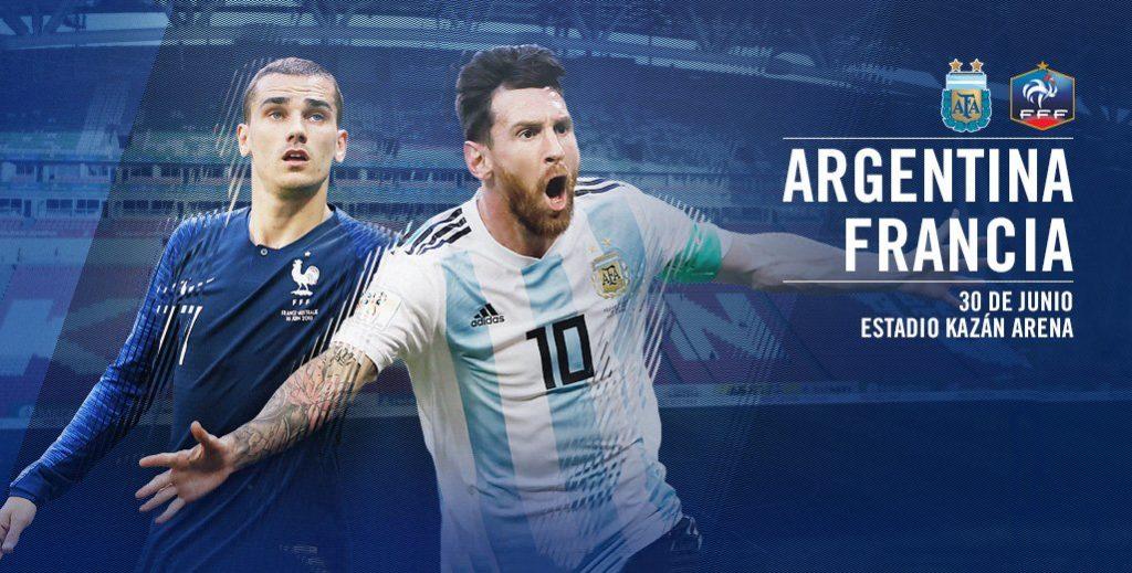 Ver los goles de Francia vs Argentina en Vivo Rusia 2018