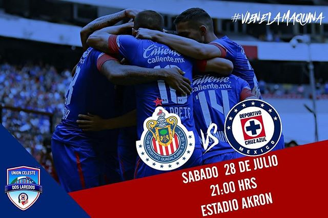 Chivas vs Cruz Azul en Vivo por Internet Liga MX 2018