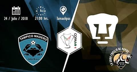 En TDN en Vivo Tampico Madero vs Pumas Online Copa MX 2018
