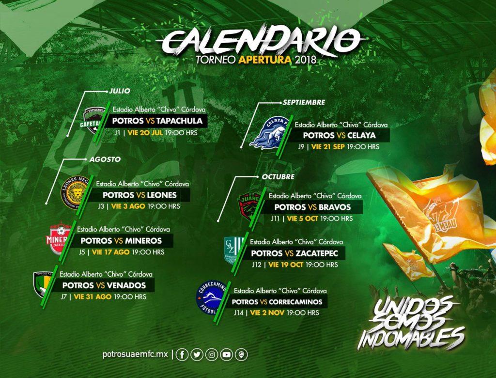 Jornada 1 Potros UAEM vs Cafetaleros en Vivo Ascenso MX 2018