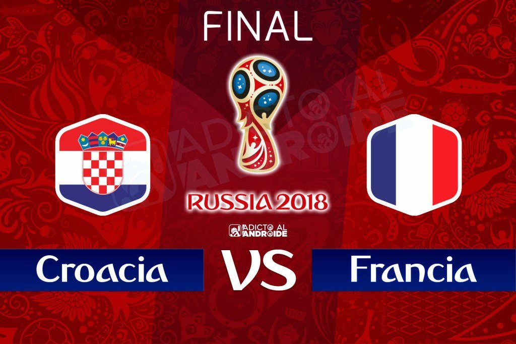 La final en vivo Francia vs Croacia por internet Rusia 2018