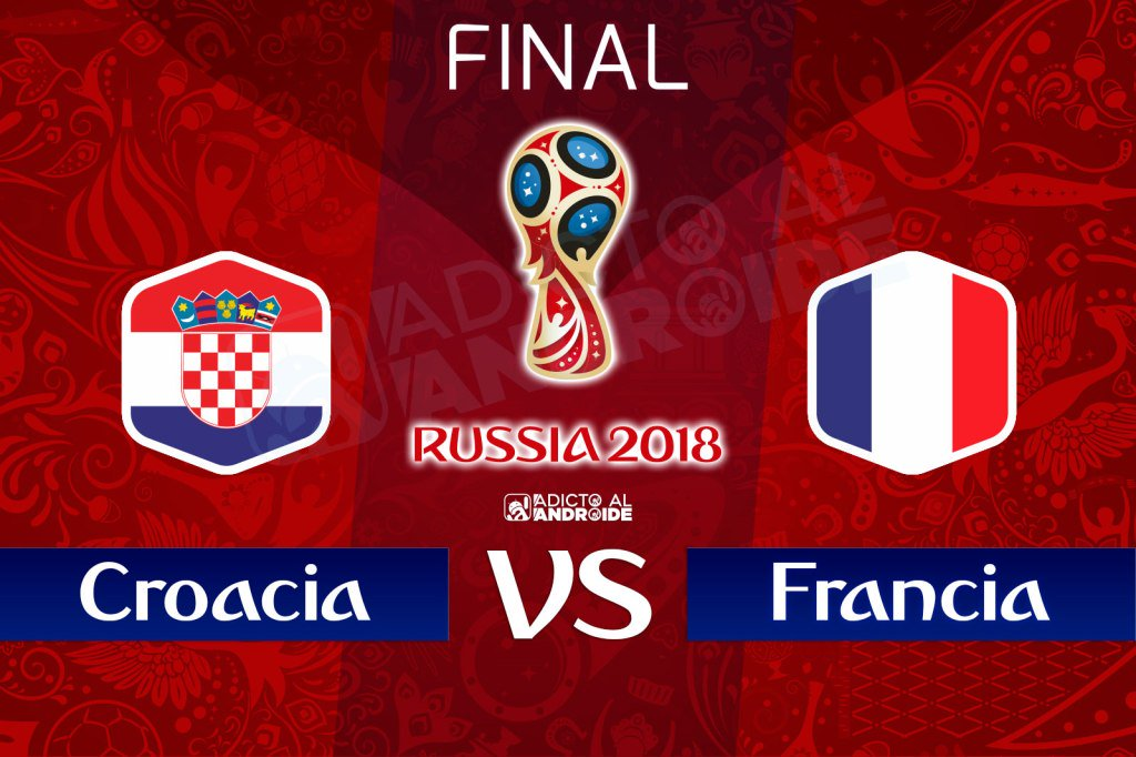 La final en vivo Francia vs Croacia por internet Rusia 2018