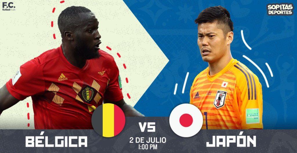 Por SKY Bélgica vs Japón en Vivo Rusia 2018