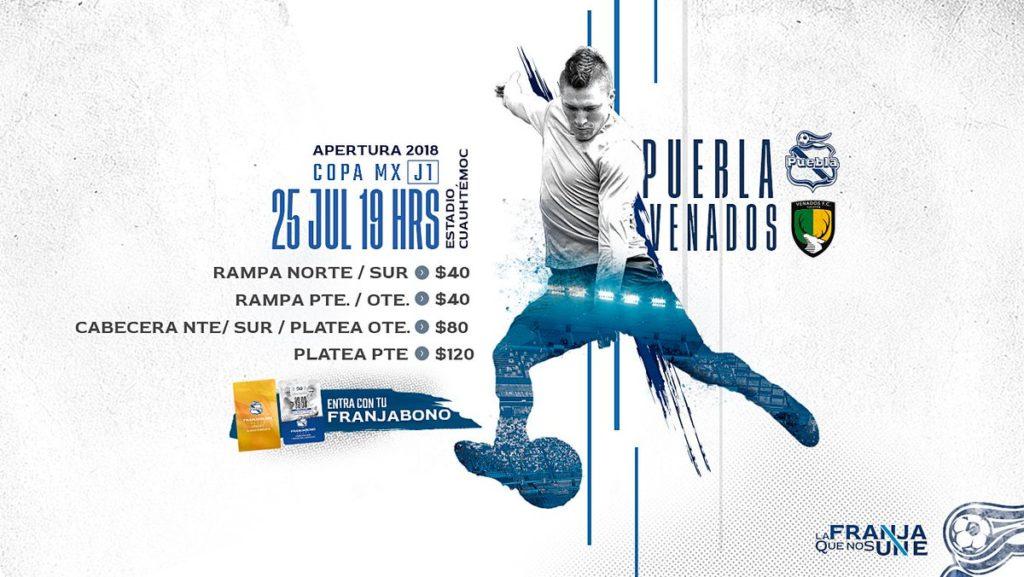 Puebla vs Venados en Vivo por Univision Copa MX 2018