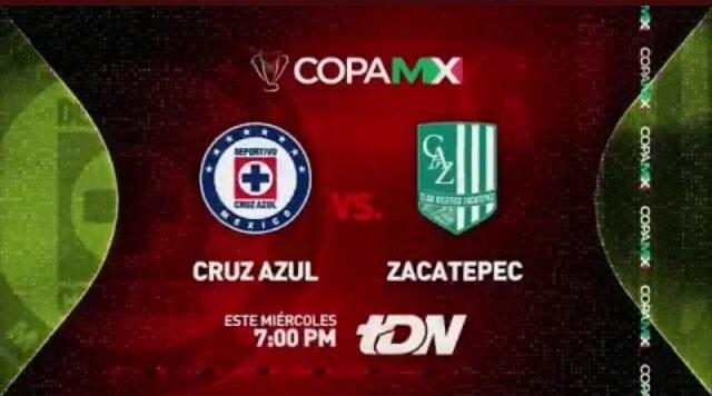 Copa MX Cruz Azul vs Zacatepec en Vivo 2018