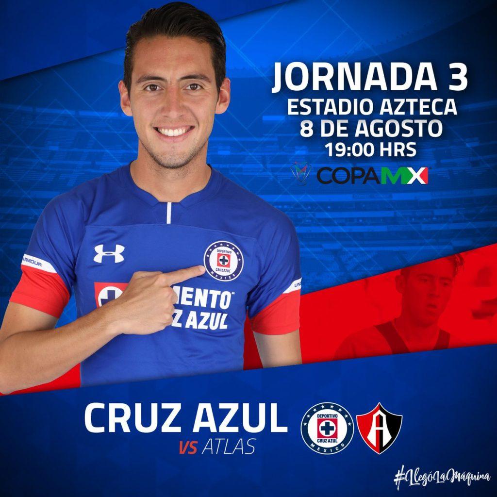 Cruz Azul vs Atlas TDN en Vivo Copa MX 2018