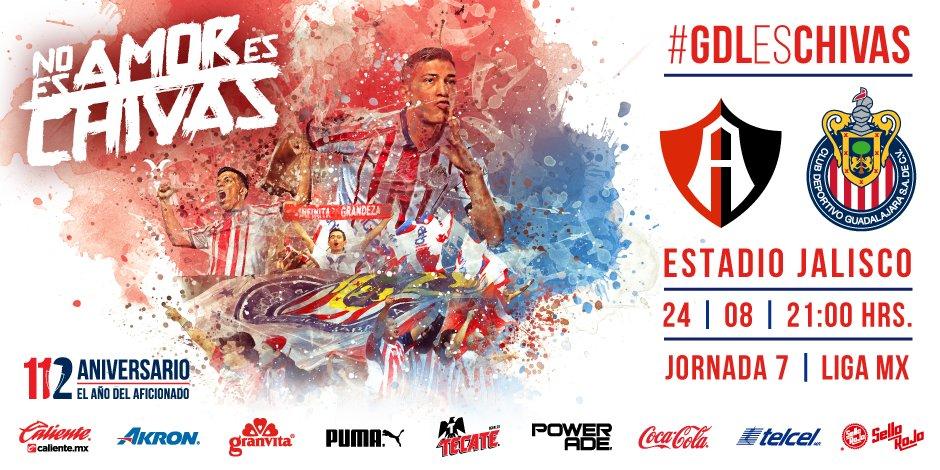 En que canal juega Atlas vs Chivas en Vivo Liga MX 2018