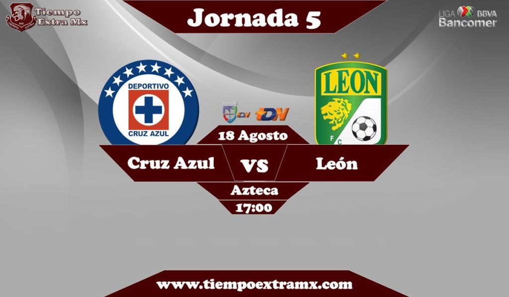 En Vivo TDN Cruz Azul vs León Liga MX 2018
