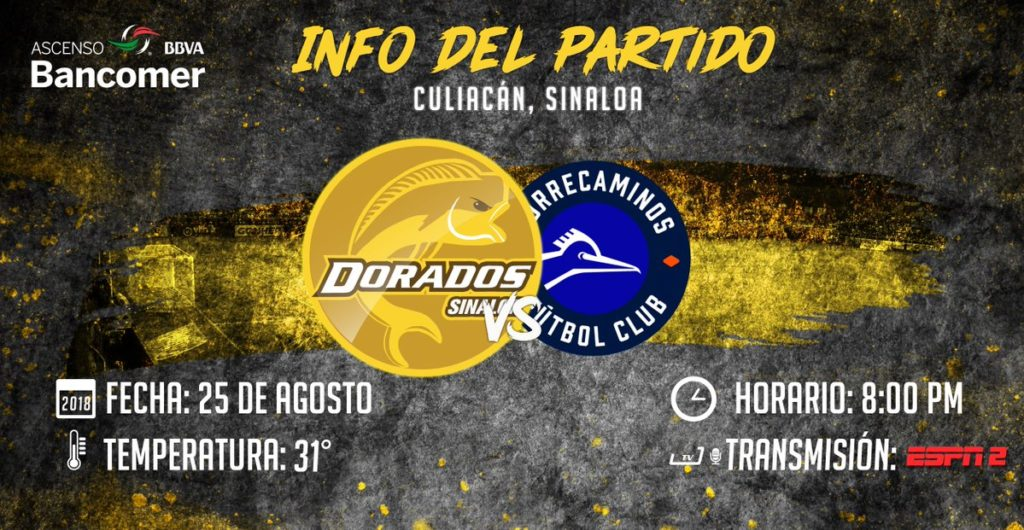 Partido Dorados vs Correcaminos en Vivo 2018 Ascenso MX 2018