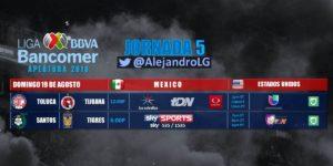 Partido en vivo Santos vs Tigres Jornada 5 Liga MX 2018