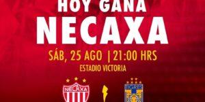 Partido Necaxa vs Tigres en Vivo Jornada 7 Liga MX 2018