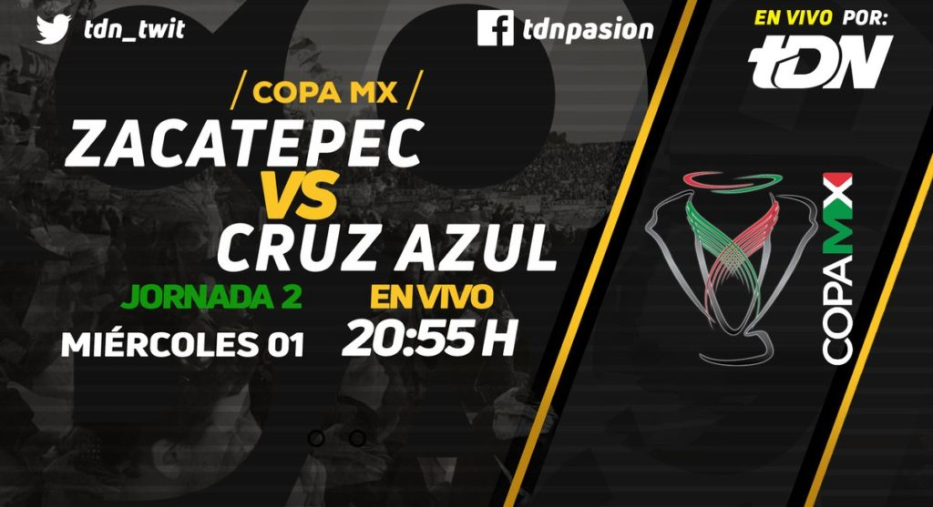 Por TDN Zacatepec vs Cruz Azul en Vivo Copa MX 2018