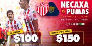 TDN en Vivo Necaxa vs Pumas Copa MX 2018