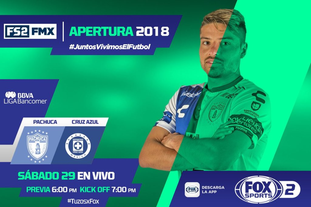 En que canal juega Pachuca vs Cruz Azul 2018 Liga MX