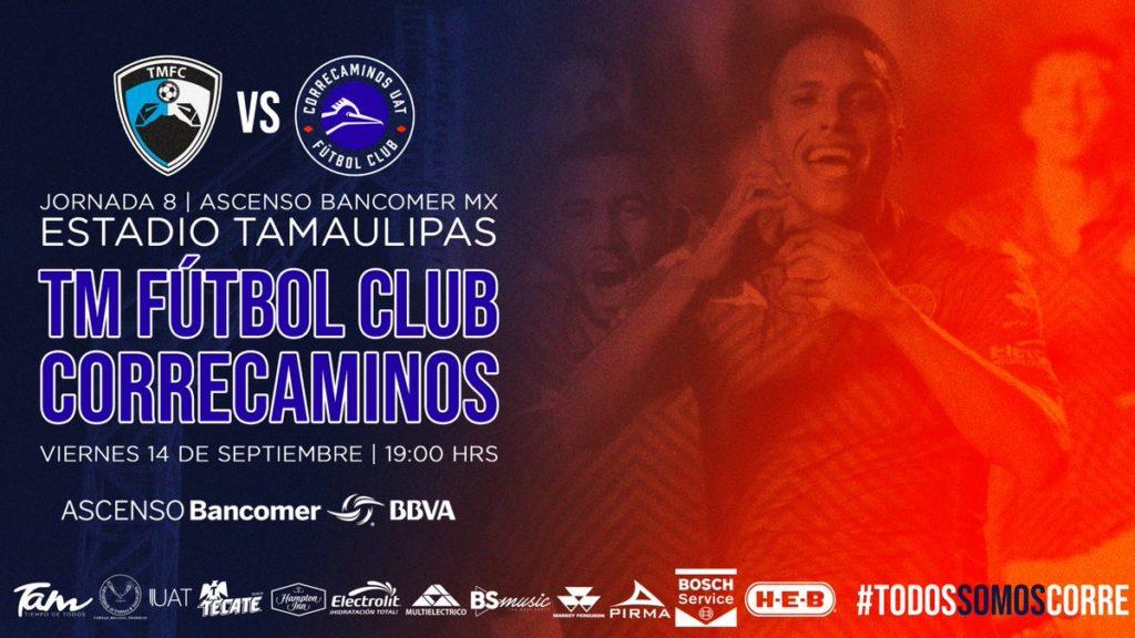 Juego Tampico Madero vs Correcaminos en Vivo Ascenso MX 2018