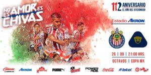 Partido Copa MX Chivas vs Pumas en Vivo 2018