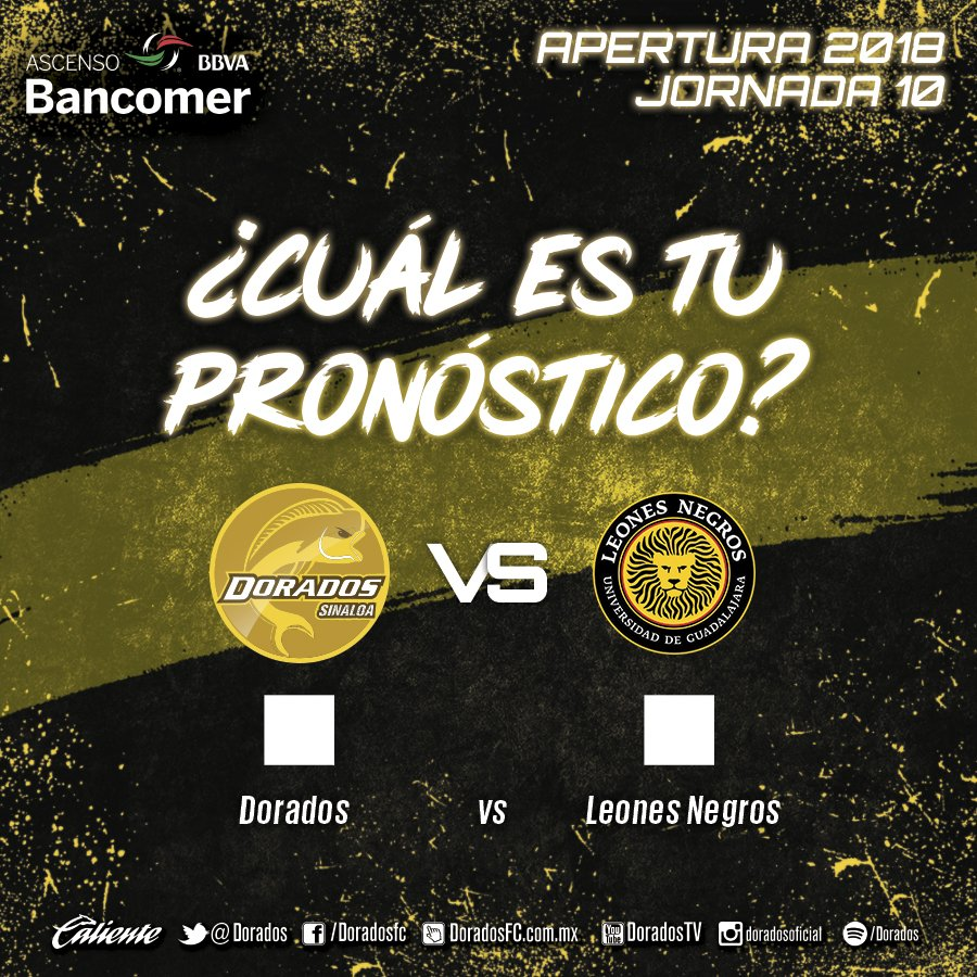 Partido Dorados vs U de G en Vivo 2018 Ascenso MX