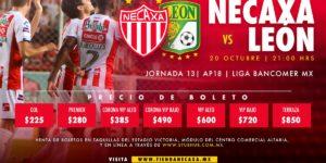 A que hora juega Necaxa vs León 2018 en Vivo Liga MX