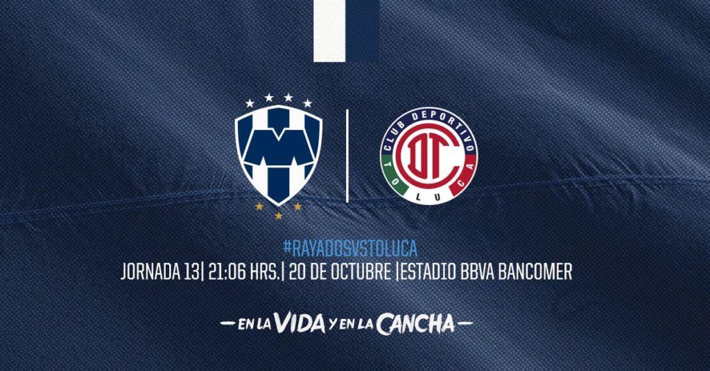 A que hora juega Rayados vs Toluca 2018 Liga MX