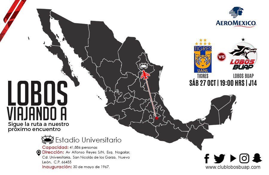 A que hora juega Tigres vs Lobos BUAP 2018 previo U.N.A.M. U.A.N.L.