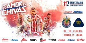 En que canal juega Chivas vs Pumas 2018 Liga MX