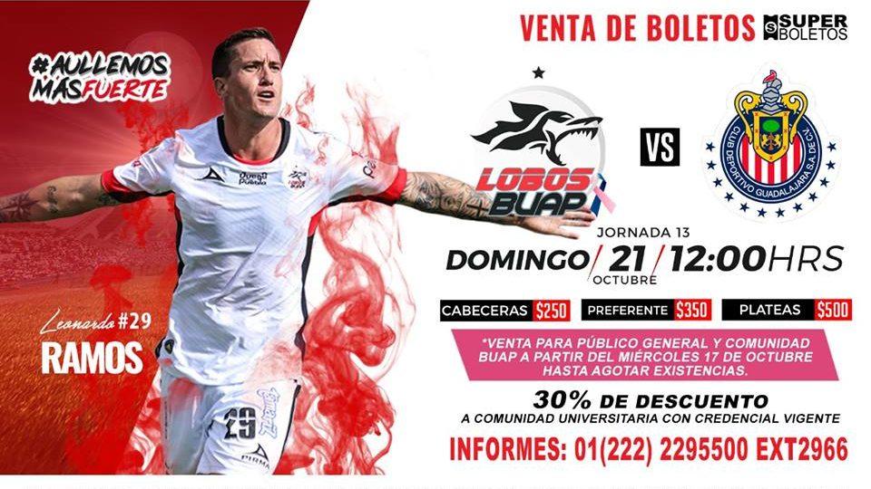 Partido Lobos BUAP vs Chivas 2018 en Vivo Liga MX