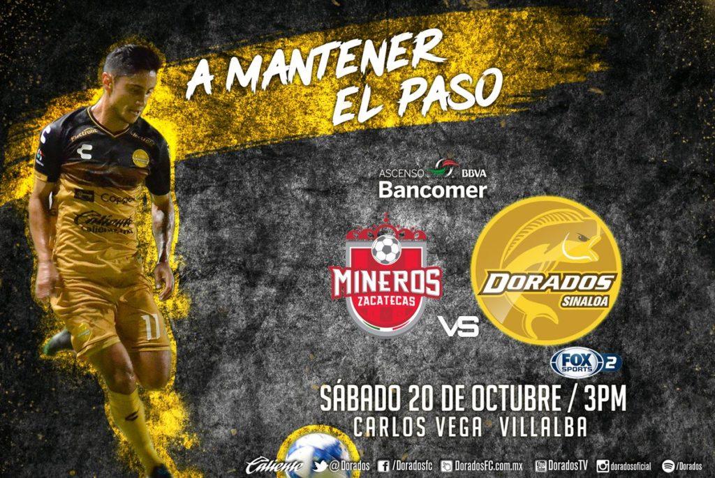 Partido Mineros vs Dorados 2018 en Vivo Ascenso MX