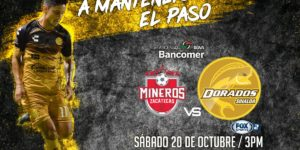 Partido Mineros vs Dorados 2018 en Vivo Ascenso MX