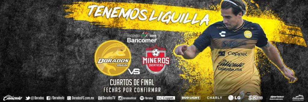 Dorados vs Mineros en Vivo Partido Ida 2018 Ascenso MX