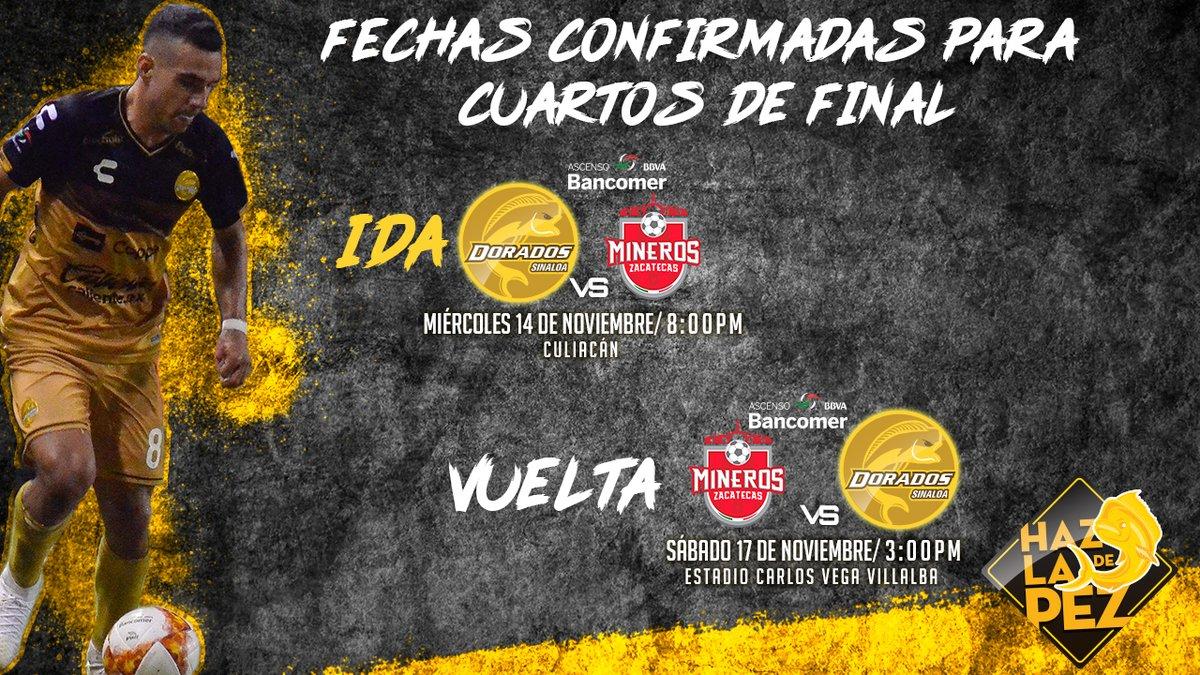 Dorados vs Mineros en Vivo Partido Ida 2018 previo Dorados Atlético San Luis