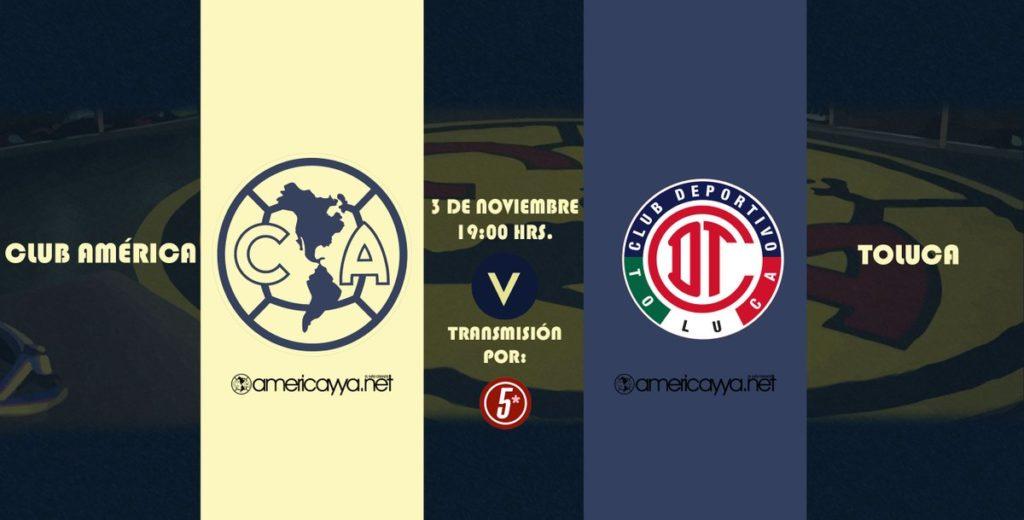 En vivo por Internet América vs Toluca 2018 Liga MX