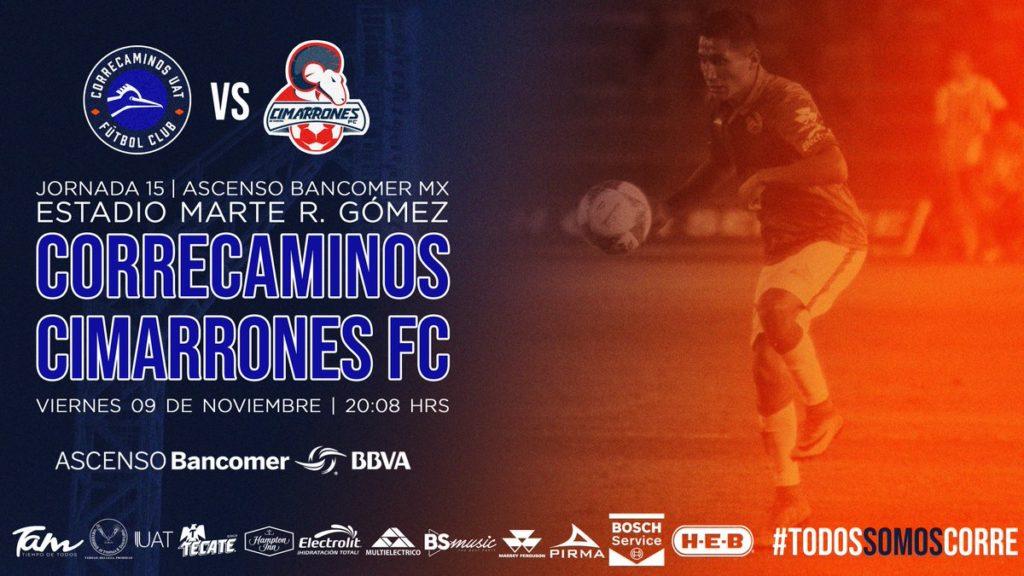 Partido Correcaminos vs Cimarrones 2018 Ascenso MX