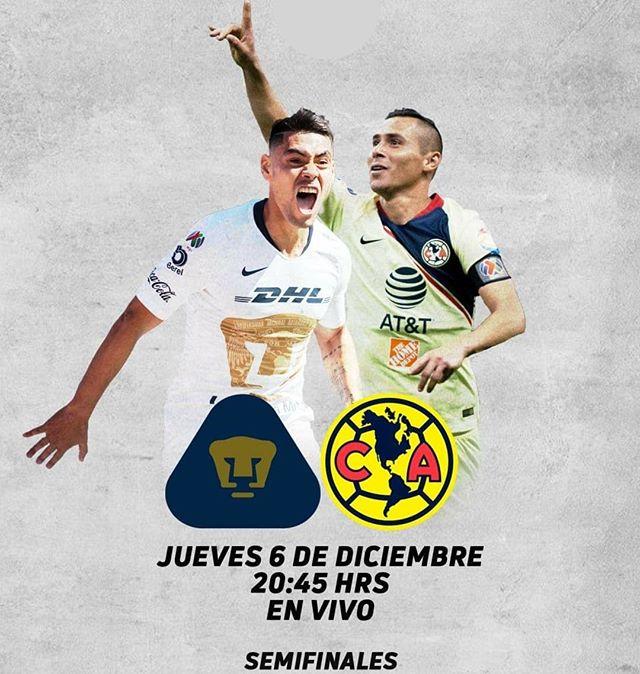 En que canal juega Pumas vs América Semifinal 2018 Liga MX