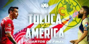 En vivo Toluca vs América vuelta 2018 Liga MX
