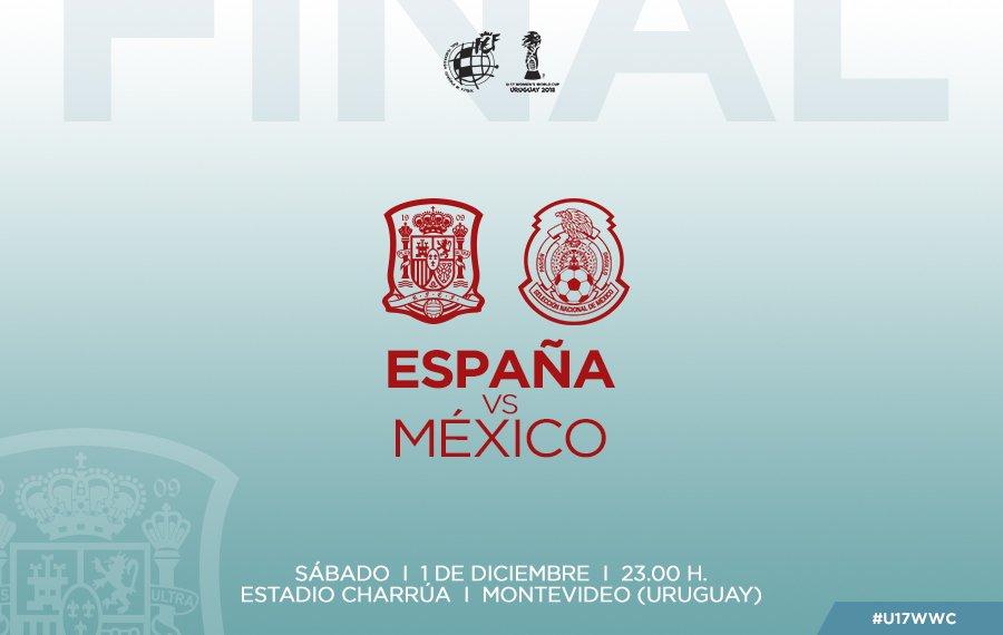 Final México vs España en Vivo Mundial Sub 17 2018