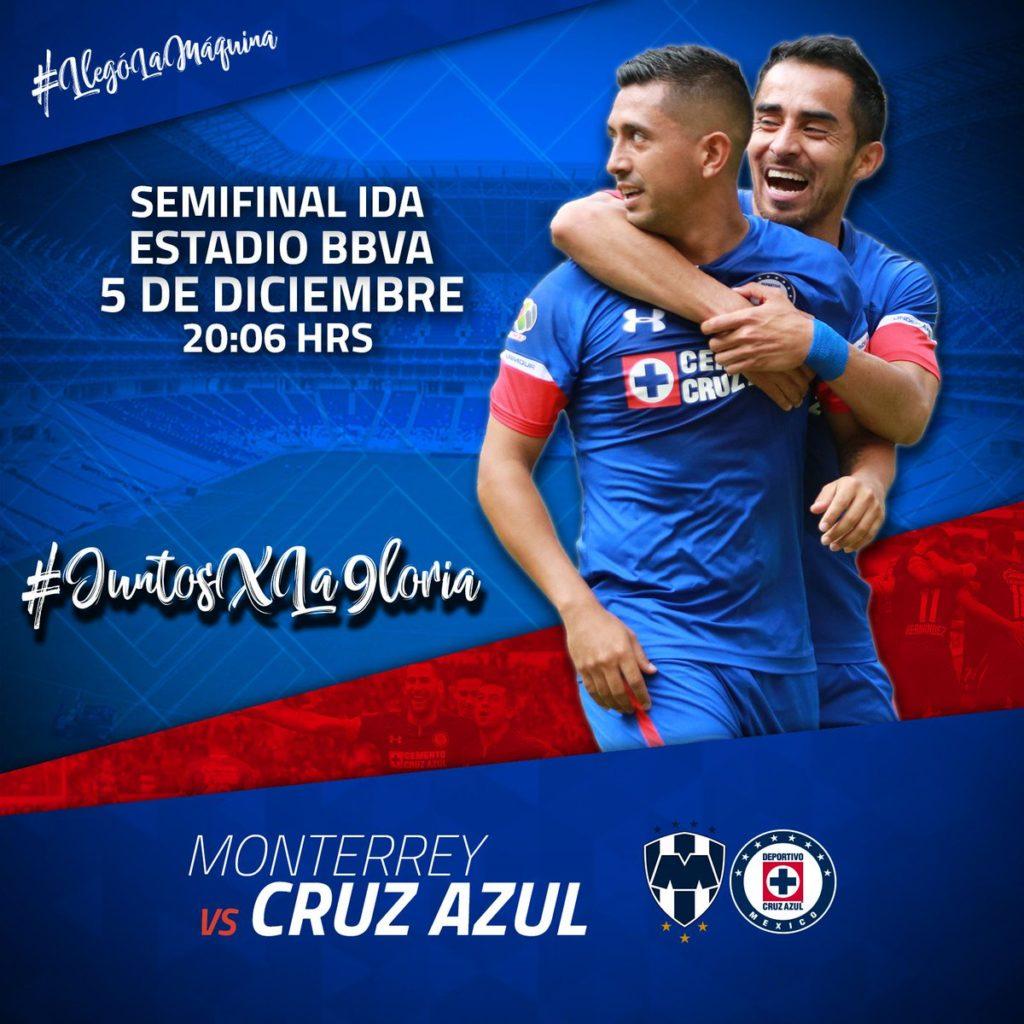 Semifinal Rayados vs Cruz Azul en Vivo 2018 Liga MX